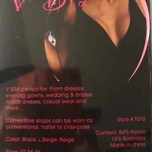 New V-Bra deep U plunging bra